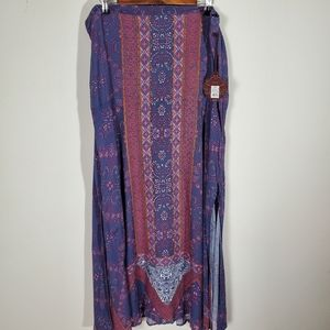 NWT Knox Rose Boho Maxi Skirt XXL